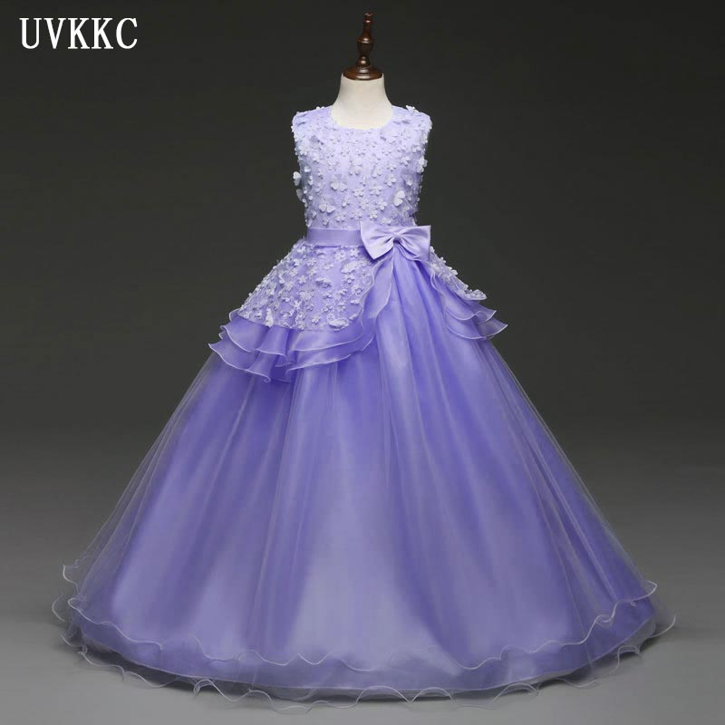 2018 Girls Long frocks for party wear for kids clothes Princess ...