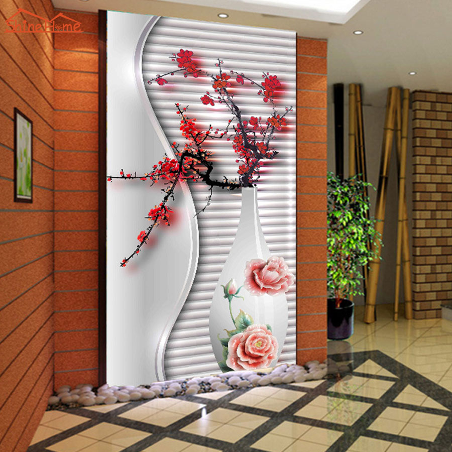 Large Plum Blossom In Vase Abstract Photo Wallpaper Natural 3d Room Wall Paper For Walls Livingroom Mural Rolls Papel De Parede