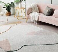 Ins французский шик Марокко гостиная; зал ковры Геометрическая полоса прикроватный коврик Богемия Геометрия современный коврик дизайн скан