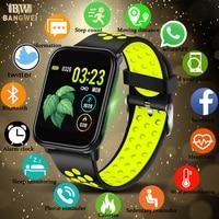BANGWEI Full screen touch Smart Watch Men Activity fitness tracker Smart Wristwatch women sport watch for IOS Android clock+Box