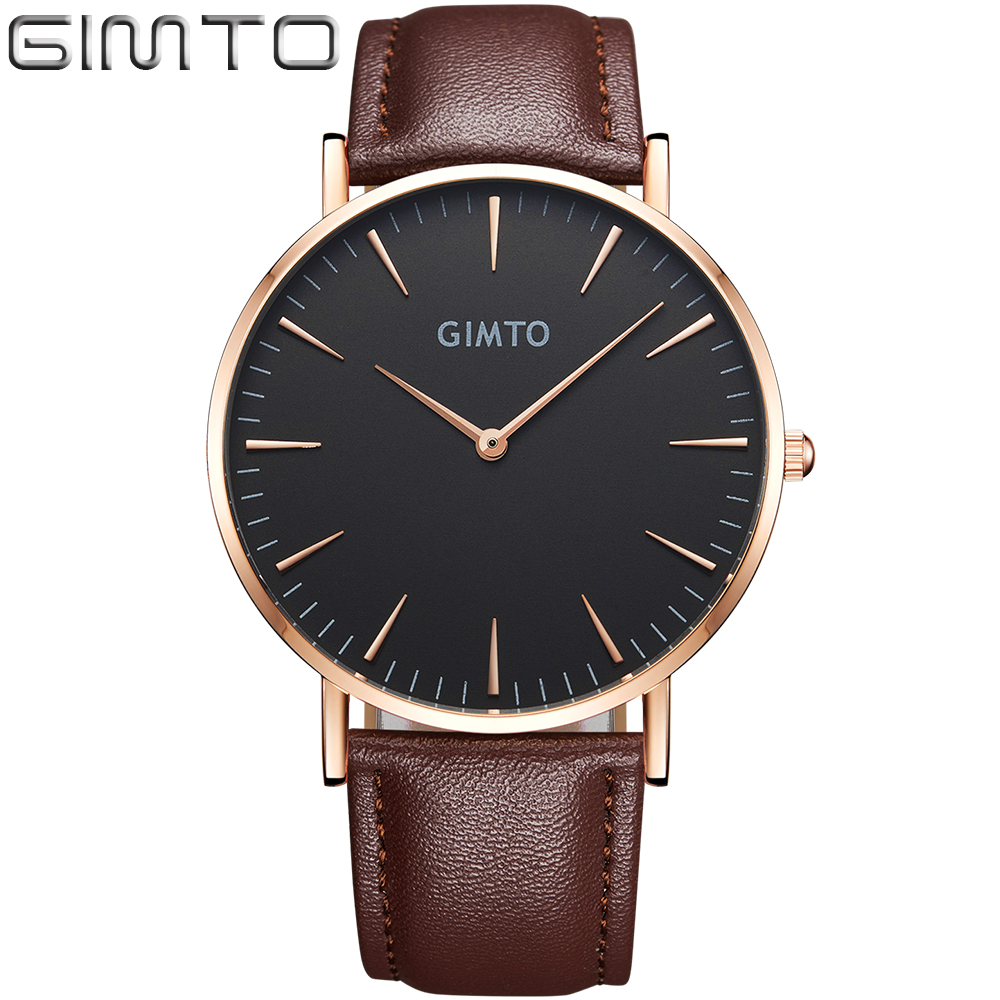 GIMTO Brand Luxury Couple Lover Watches Quartz Dress Gold Black Men Women Sport Wristwatch Military Casual Clock Relojes Hombre