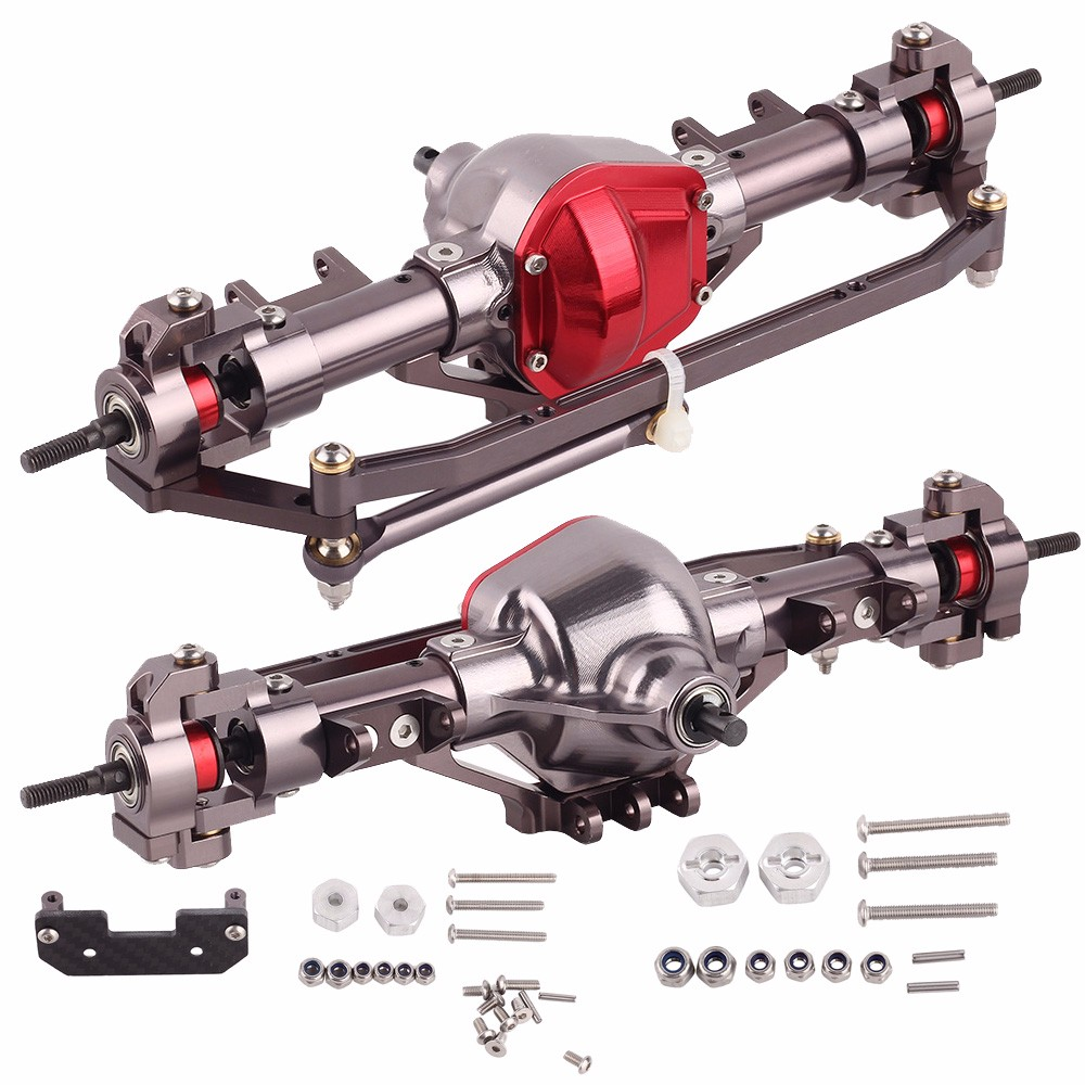 1 10 Rc Truck Axle Accessories Complete Alloy Front And Rear Axle CNC Machine for 1