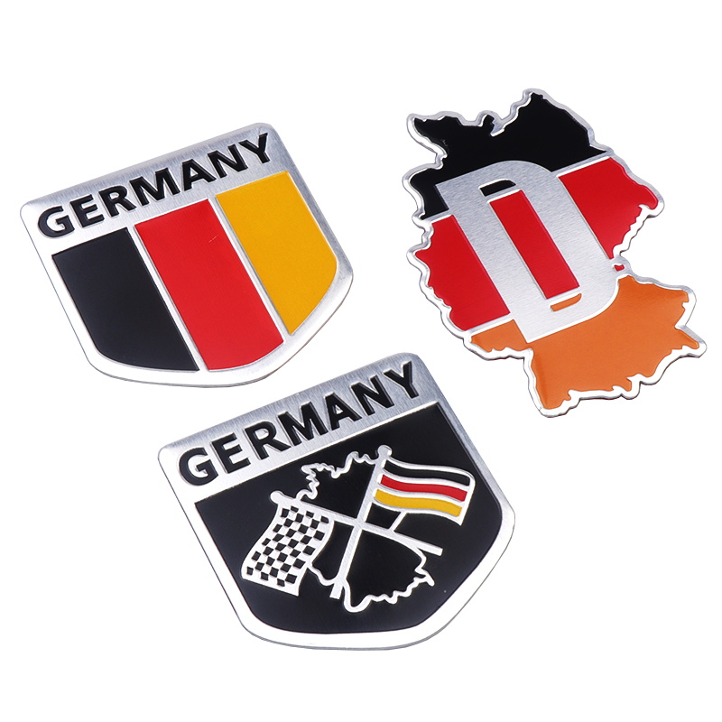 3D алюминиевая немецкая Наклейка Флаг Германии эмблема наклейка для Audi BMW Perodua Toyota Honda Nissan Ford Mazda Mercedes стайлинга автомобилей