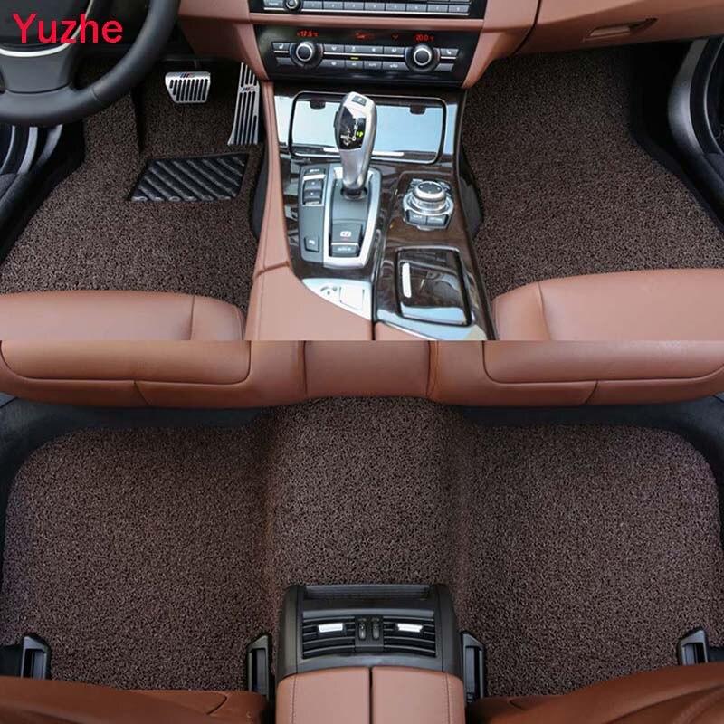 Yuzhe Авто Напольный коврик для Mercedes Benz A C W204 W205 E W211 W212 W213 S class CLA GLC ML GL автомобильные аксессуары для стайлинга автомобиля
