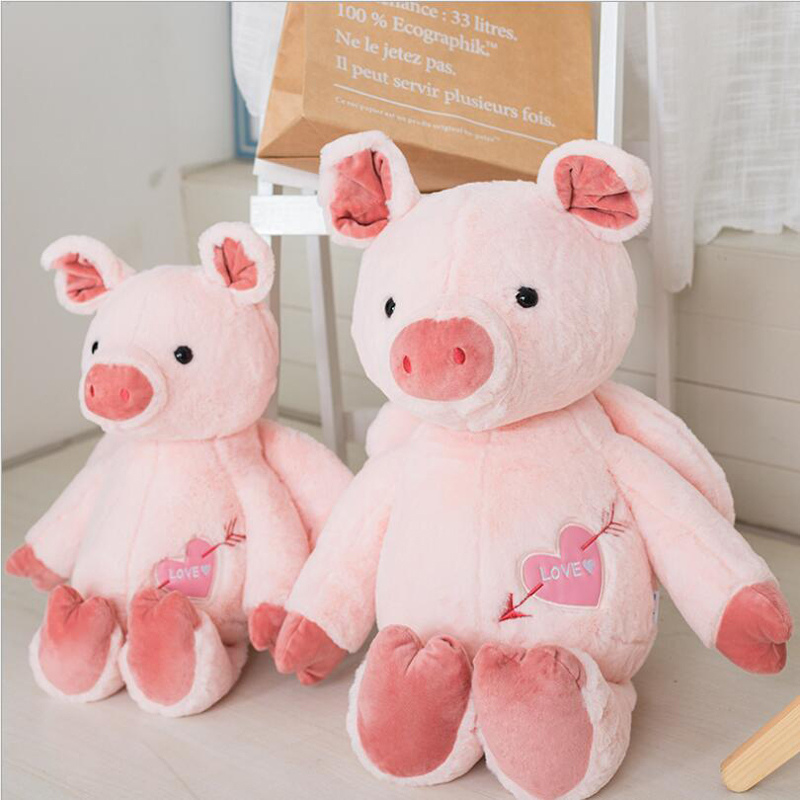 Hot Sale Pink Angel Pig Scarf Plush Toy Stuffed Animal Doll Best Gift Send to Children & Girlfriend