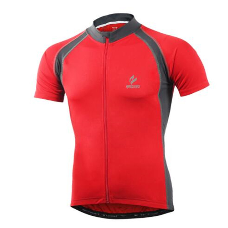 ARSUXEO Outdoor Sports Cycling Jersey Summer Men Bicycle Short Sleeves Clothing MTB Road Mountain Bike in Cycling Jerseys from Sports Entertainment