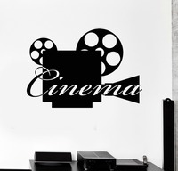Vinyl Decal Movie Camera Cinema Film Filming Wall Stickers Mural