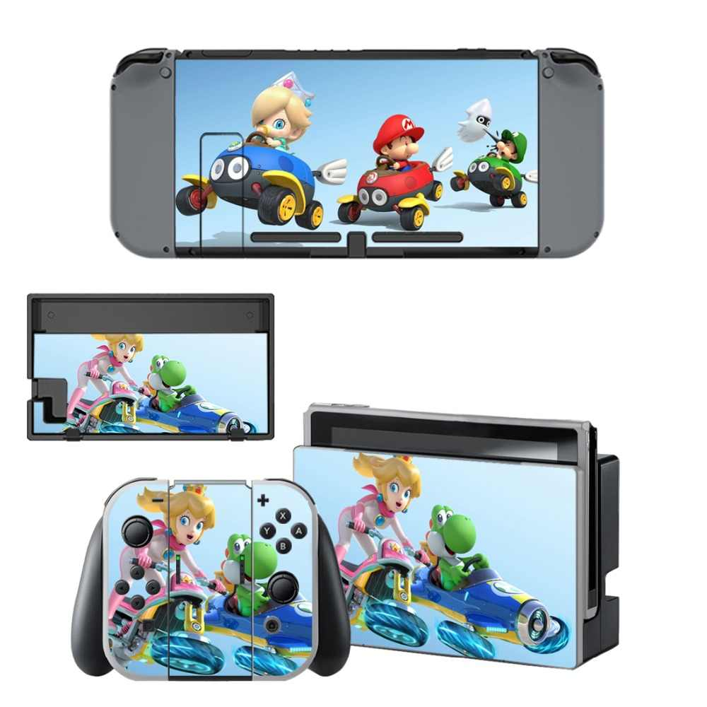 For Super Mario Kart 8 Decal Protector Vinyl Skin Sticker for Nintendo  Switch NS Console+Controller+Stand Holder Protective Film