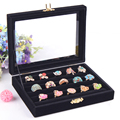 Free Shipping Square Empty Black Color Special Wood Display Storage Box Case Jewelry Packing Box Earring/Ring Box Retail