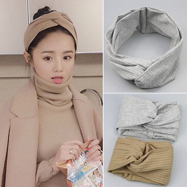 Fashion Twist Turban Headband for Women Bows Elastic Sport Hairbands Girls Makeup Fabric  Hair Band Hair Accessories Headwrap
