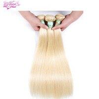 Queen Love Peruvian Straight Hair 3 Bundles 613 Blonde Human Hair Bundles 100 Non Remy Hair