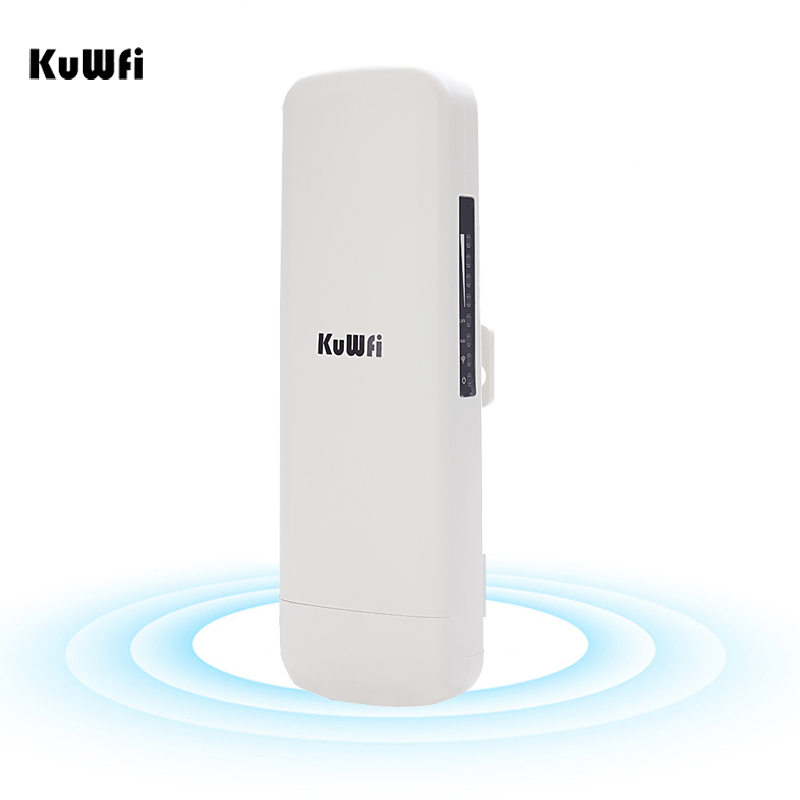Kuwfi 3km Wireless Bridge High Power Wifi Router Repeater Wireless Access Point 2.4GHz 300Mbps Outdoor CPE for Wireless Camera outdoor cpe 5 8g wifi router 200mw 1 3km 300mbps wireless access point cpe wifi router with 48v poe adapter wifi bridge cf e312a