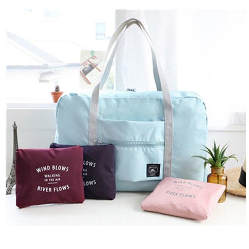 Safe Waterproof Nylon Travel Bags Women Men Large Capacity Folding Duffle Bag Organizer Packing Cubes Luggage Girl Weekend Bag цена 2017