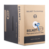 BELNET Cat6 RJ45 Ethernet Network Cable UTP 23AWG Copper 250MHz 1000Mbps Lan Cable twistd pair Pass Fluke Test 1000Ft 305M Blue