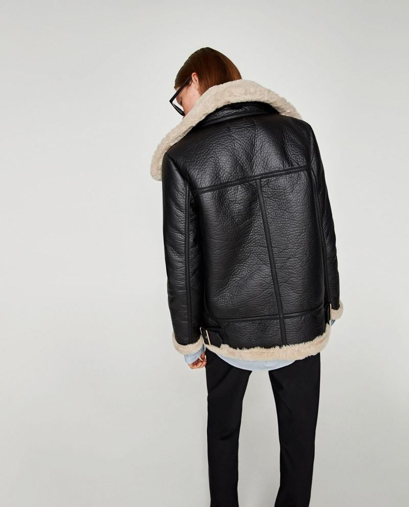 2017 Autumn Women Black Faux Leather Fleece Jacket Ladies Turn-down Collar Long Sleeve Zipper Wram Coat High Quality Outwear