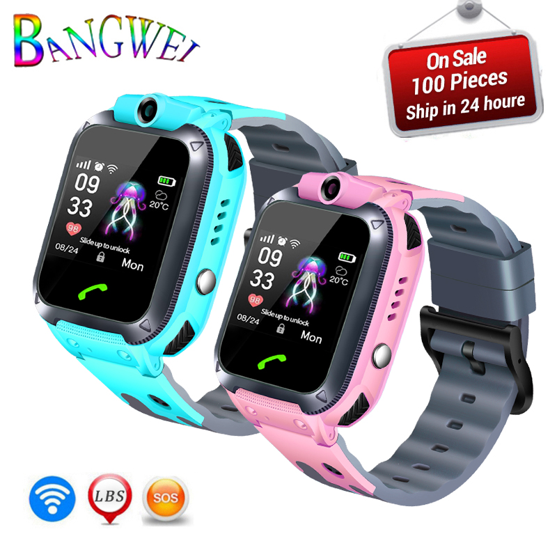 BANGWEI 2019 New Children's Watch Wearable Devices For 2g/3g/4g SIM Bluetooth Camera Call Watch Suitable Kids Boy Girl Ones Gift