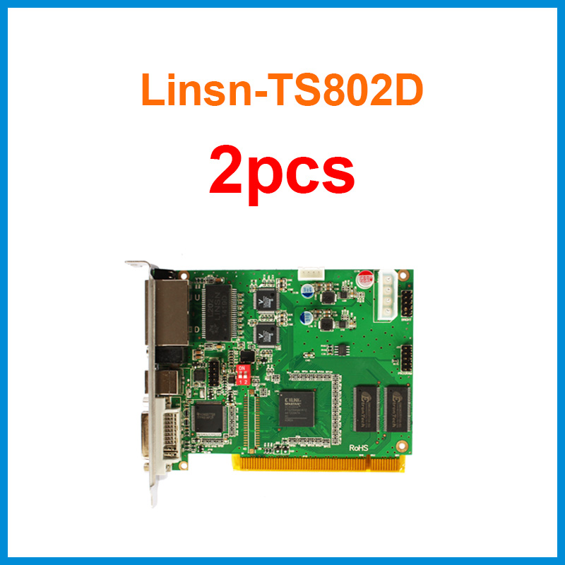 Ts802d Linsn Sender Sending Card Linsn 2 Piece Work With Linsn Rv801 Rv901 Rv901t Rv908m32