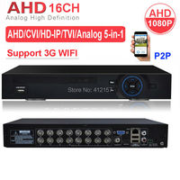 CCTV Security 16CH DVR AHD 1080P 1080N 3 IN 1 Hybrid HVR NVR HDMI 3G WIFI