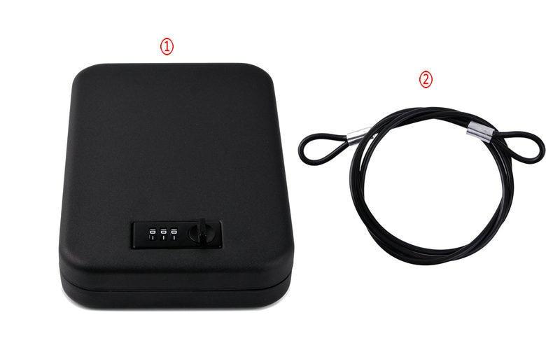 Safe Box Solid Steel Security Key Gun Valuables Jewelry Box Protable Security Biometric Fingerprint Safes Strongbox