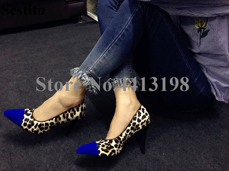 Newest Women Sexy Leopard Print Pointed Toe High Heels Formal Dress Pumps Thin Heels Slip-on Shallow Ladies Shoes Spring/Autumn women pumps sexy open toe lace fashion pointed toe high heels new style shallow classic spring autumn single shoes ladies