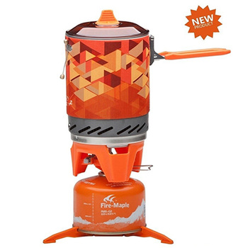 Hot Sale Outdoor One-Piece Camping Stove  Kitchen Stove Heat Exchanger Pot 1.0L Cooking Stove 600g Fire Maple FMS-X2 1