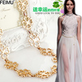 simple match lady dress ornament waist bridal belt waist chain metal chain belt small flowers for wedding evening dresses PF18