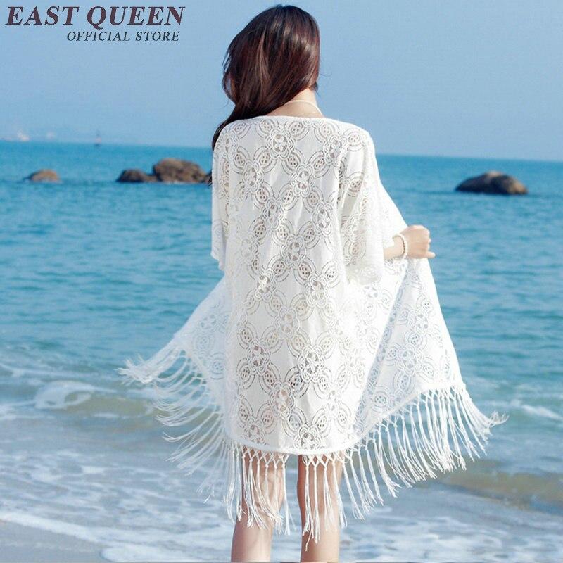 Beroemd Wit gehaakte vesten tassel fringe zomer lange vest holle kant vest #LU84
