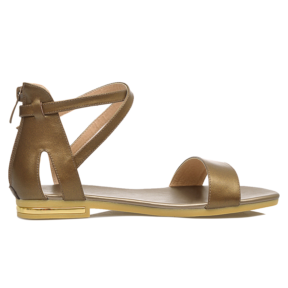 Tamaño 34 Negro Genuino Señoras Mujeres Zapatos Verano Blanco Cuero Nnw08m