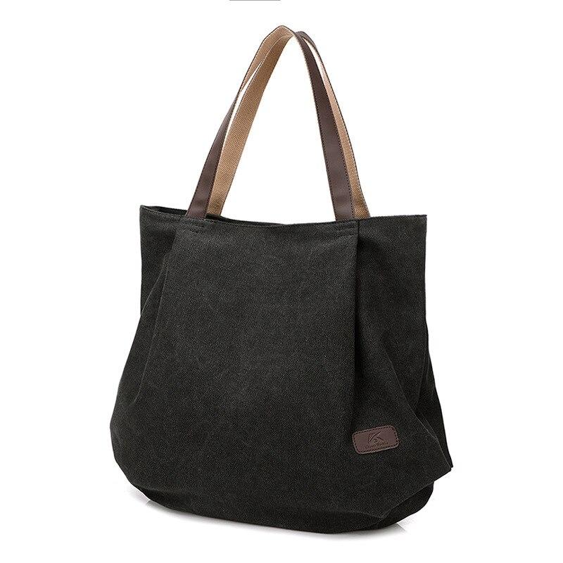 цена на New Design Women Canvas Casual Tote Female Cell Phone Pocket Shoulder Bags Ladies Solid Zipper Handbags Bolsas Femininas