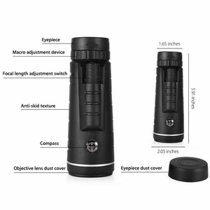 Image 3 - 40X60 HD זום משקפת משקפת חיצוני נסיעות טרקים יכול לשמש עבור מצלמה טלפון עדשת HD משקפת עבור iPhone Huawei