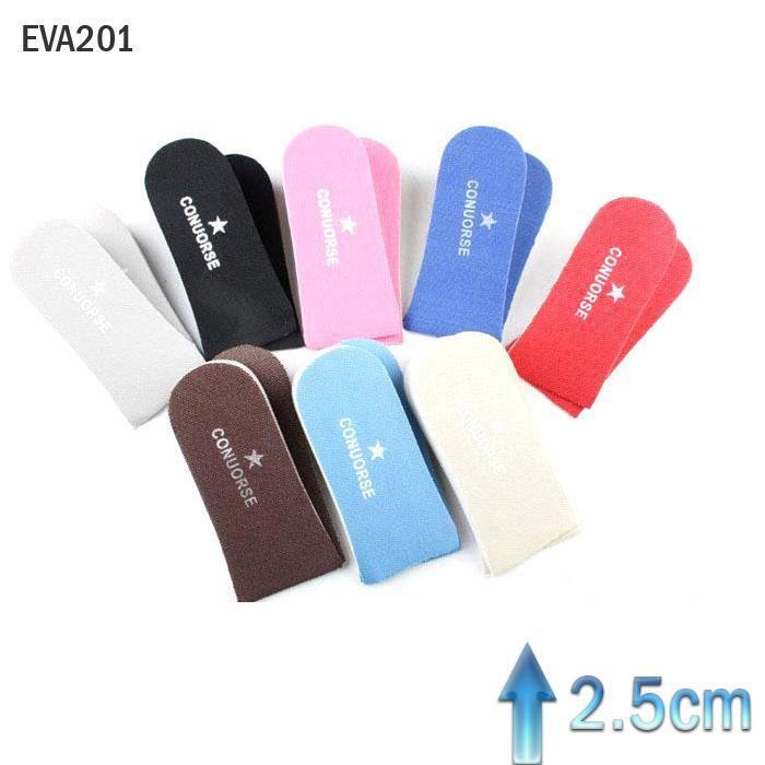 50 pairs Women 2.5cm Super light EVA Heighten Half Pad Memory Foam Shoe Pad Increase height Lift Insoles inserts One Size EVA101 single sided blue ccs foam pad by presta