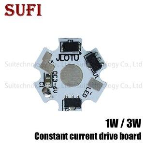 1 W 3 W LED aluminiowa płyta podstawowa płytka PCB LED prąd stały kierowca radiator podłoża 20mm gwiazda zestaw radiator dla 1 3 W wat