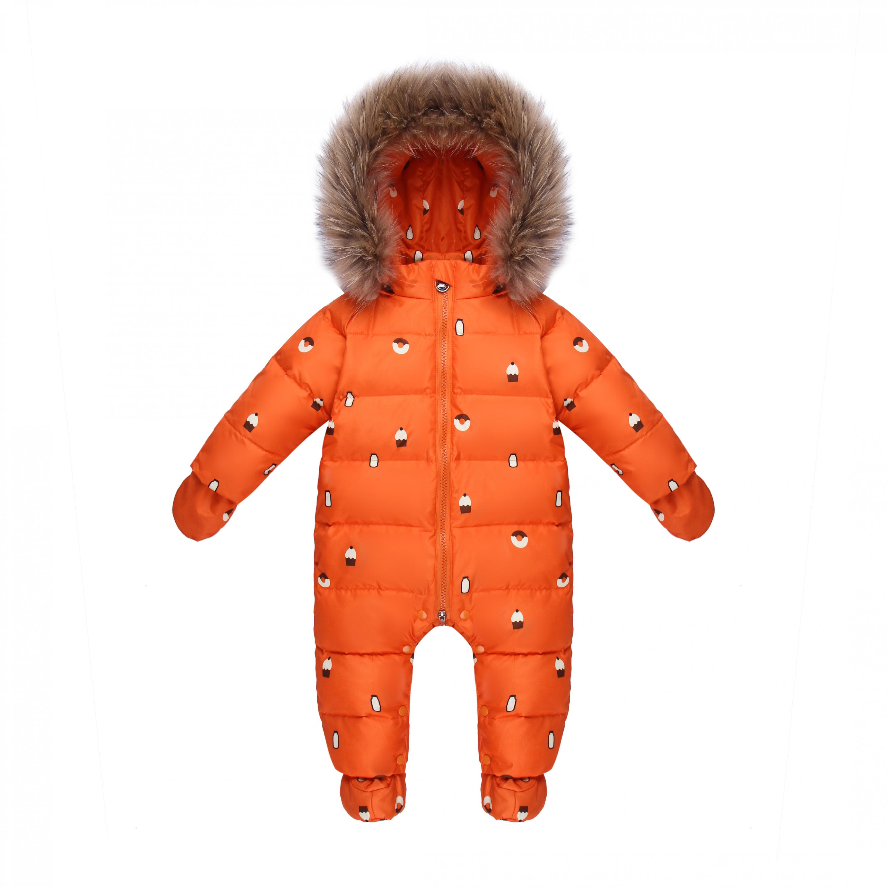 baby warm clothes Duck Down Rompers Snowsuit Outerwear Boy Snow Wear kids Jumpsuit Girl Real Fur Clothing Winter Overalls russia winter boys girls down jacket boy girl warm thick duck down