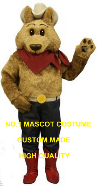 cowboy coyote mascot costume wholesale high quality adult size cartoon wolf theme anime cosplay costumes carnival fancy 2678