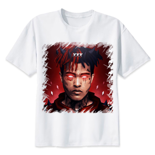 f27515afc44d Newest Rip Xxxtentacion Character Print T Shirt Fashion Casual Short Sleeve Men's  T-shirt Summer Cool O-neck Men/women Clothing