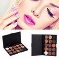 15 cores profissional sombra para os olhos cosméticos makeup palette naked eyeshadow paleta de pigmentos fosco compõem ferramenta 2017 hot venda
