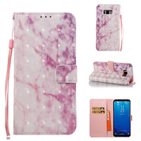 3D Phone Case Marble Stone Granite PU Leather Cover For Samsung Galaxy S2 S3 S4 S5