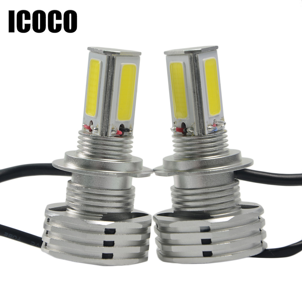 ICOCO 90W LED Headlight Bulb Kit LED H7 9000Lm 6500-7000K Pure White LED Headlight Bulbs With Driver Ballasts Free Shipping
