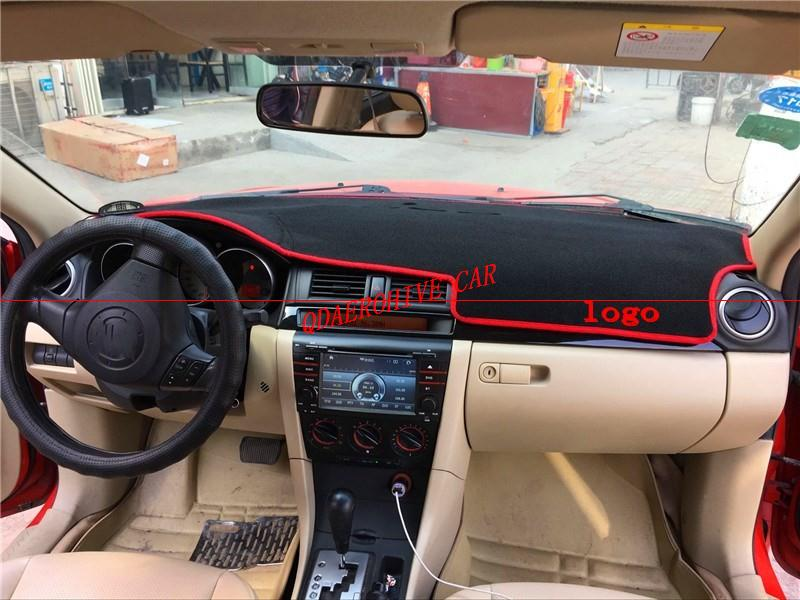 QDAEROHIVE Dash Mat Dashmat Dashboard Cover Sun Shade Dash Board Cover Carpet For <font><b>Mazda</b></font> <font><b>3</b></font> M3 BK <font><b>2004</b></font> -2008 image