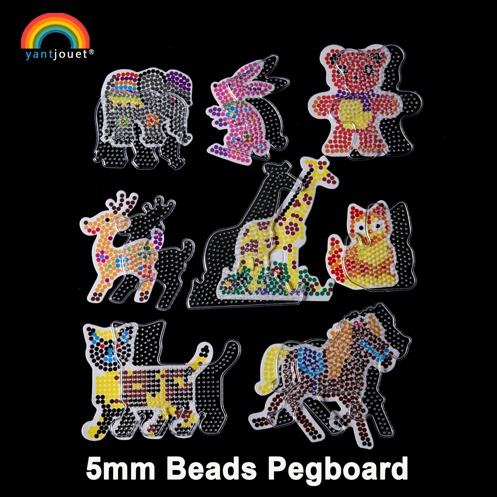 Yant Jouet 5mm Hama Beads Pegboard Whale Sailboat Transparent Template Board DIY Figure Material Board Perler Beads For Children