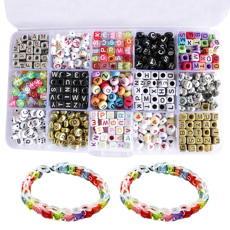 Round Alphabet Letter Beads Number Acrylic DIY Crafts Jewellery Making Bracelet