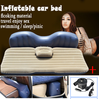 Fast Shipping New Inflatable Mattress Car Bed Air Pump Pillow Car Inflatable Travel Bed Car Bed
