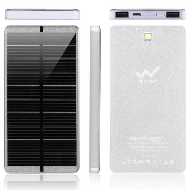 PowerGreen Solar Battery Power Bank