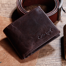 Cobbler Legend Famous Brand Genuine Leather Men Wallets Handmade Men's Wallet Male Money Purses Coins Wallet With ID Card Holder недорго, оригинальная цена