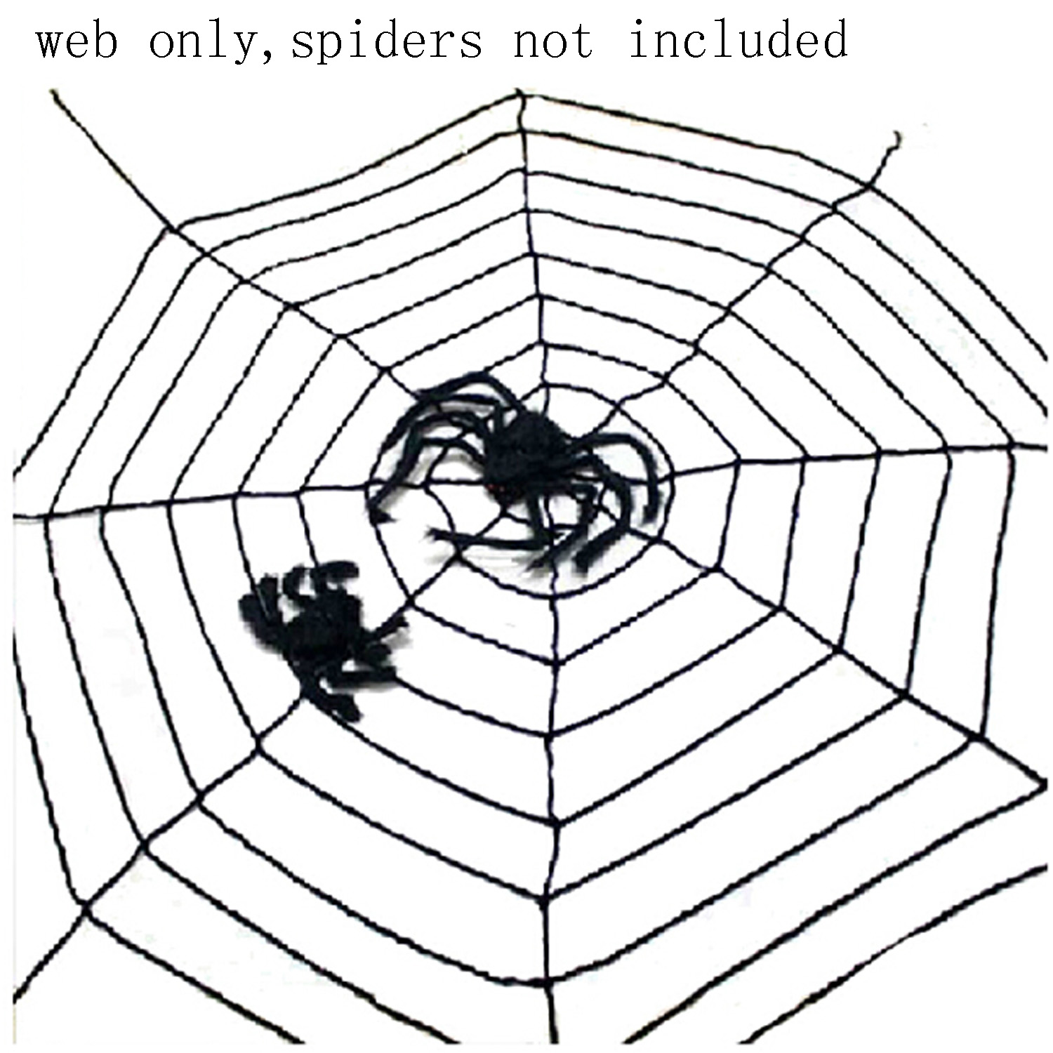 5 Feet Party Cosplay Halloween Decoration Props Product Outfit Product Window Giant Spider Web Black
