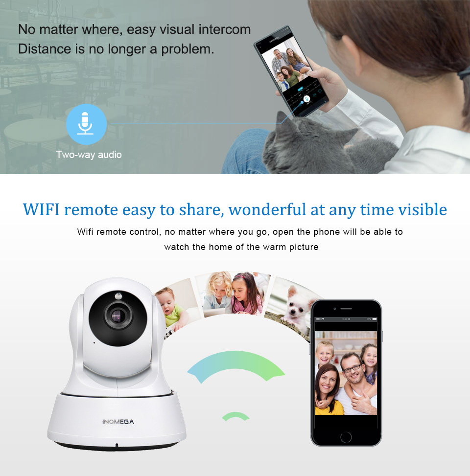 INQMEGA 720P IP Camera Wireless Wifi Cam Indoor Home Security