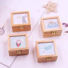 New Mini Wooden Music Box Retro Style Hand Crank Mechanical Crafts Birthday Album Gift grilfriend gift