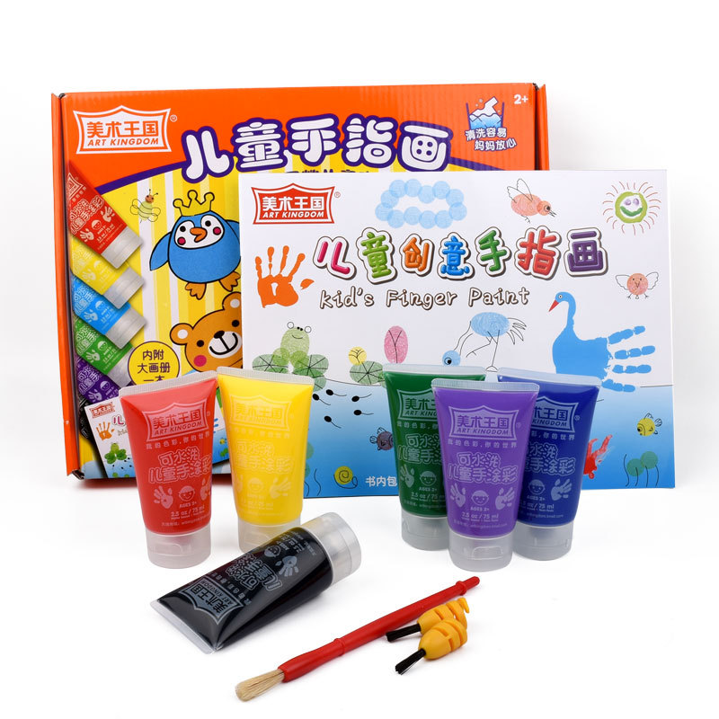лучшая цена 6 colors Watercolor paint set graffiti pigment water color for painting safe washable finger paint for kids children drawing toy