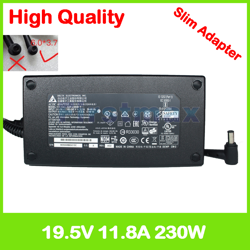 Slim 19.5V 11.8A laptop charger for Asus ROG Strix GL702VS GL702ZC GL702V ADP-230GB B ADP-230EB T Gaming Laptop AC power adapter chint nkg3 nkg 3 lcd microcomputer astro time switch sunrise sunset based on latitude din rail digital programmable timer relay