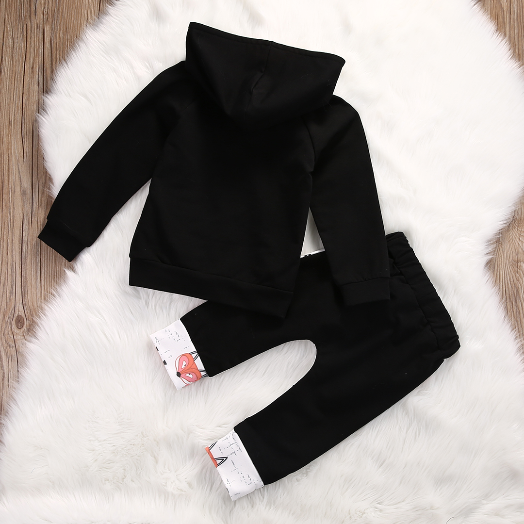 Spring-Autumn-Kids-Toddler-Baby-Girl-Boy-Fox-fox-printing-Hoodies-Sweatshirt-Pants-2pcs-Outfits-Set-2
